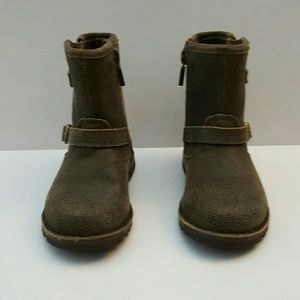 UGG boots toddler gray leather zipper size 7